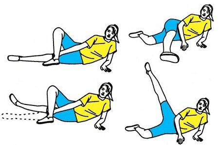 Комплекс упражнений при варикозе лежа на боку
