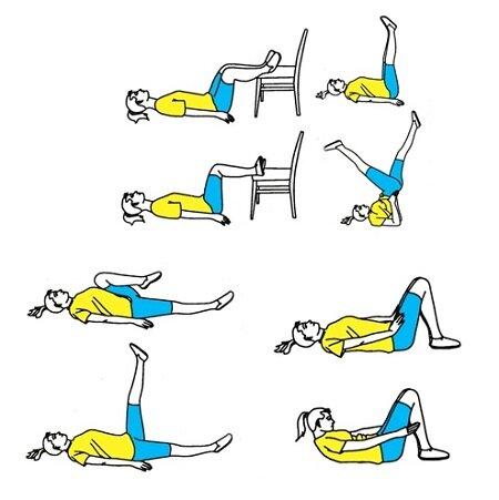 Комплекс упражнений при варикозе лежа на спине