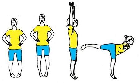 Комплекс упражнений при варикозе стоя