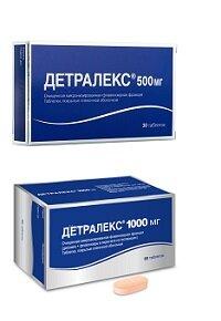 Детралекс 500 и 1000 мг